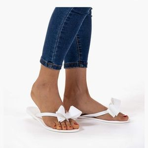 NWT Mudd White Flip Flop Jelly Sandals Sz 8.5